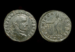 Galerius, as Caesar, Follis, Genius of the Caesars reverse